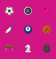 set of 9 editable healthy flat icons includes vector image vector image