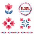 Set of design elements - retro tulip flowers vector image vector image