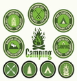 Set of retro camping badges and labels vector image vector image