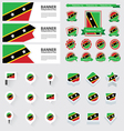 SET st kitts nevis vector image vector image