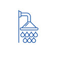 shower line icon concept shower flat vector image