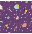 space travels seamless pattern cartoon vector image vector image