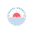 travel agency logo tourism sea sun vector image vector image