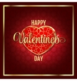 Valentines day abstract background with red gold vector image vector image