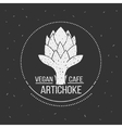 Vegan cafe menu logo template food design vector image