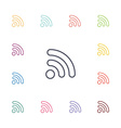 WiFi flat icons set vector image