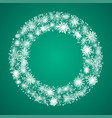 wreath with snowflakes new year christmas frame vector image vector image