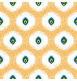 abstract seamless pattern with drops in circles vector image