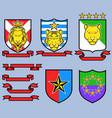 golden big cat royal emblem vector image
