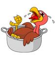 Turkey in the saucepan vector image