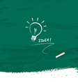 Drawing bulb light idea on blackboard background