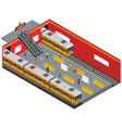 depicting subway station isometric view vector image
