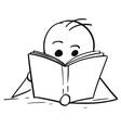 man or boy reading a book vector image