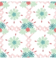 Seamless floral wallpaper background vector image