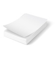 A 4 stack of paper 02 01 vector image vector image