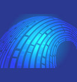 abstract blue line curve flow data light motion vector image vector image