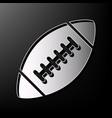 american simple football ball gray 3d vector image vector image