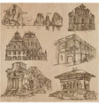 architecture - an hand drawn pack collection vector image vector image