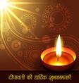beautiful diwali greeting vector image vector image