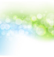 blue and green pastel line and bokeh vector image