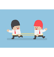 Businessmen are walking to the opposite direction vector image vector image