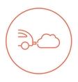 Car spewing polluting exhaust line icon vector image vector image