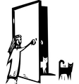 Cat Door vector image vector image