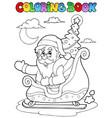 coloring book santa claus theme 8 vector image vector image