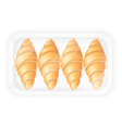 croissant in packaging vector image