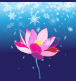 festive new year card with lotus flower vector image