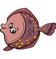 flounder fish cartoon vector image