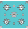 folk inspired turquoise wallaper vector image vector image