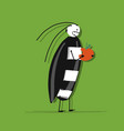 funny beetle for your design vector image vector image
