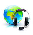 global online support concept vector image vector image