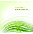 green abstract background vector image