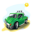 green cartoon off-road car vector image vector image