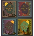 Halloween posters set Invitation templates for vector image