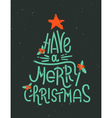 Have a Merry Christmas lettering in a shape of a C vector image vector image