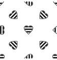 heart lgbt pattern seamless black vector image vector image