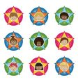 kids badges vector image