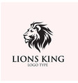king lion logo designs vector image vector image