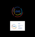 loading colored lines logo vector image vector image