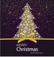 merry christmas and happy new year xmas tree vector image vector image
