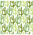 mexican cactus seamless pattern cartoon vector image vector image