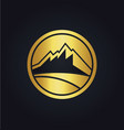 mountain icon company gold logo vector image vector image
