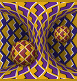 optical two spheres and hyperboloid vector image vector image