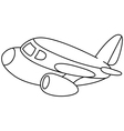 outlined plane vector image