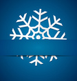 Paper snowflake on colored background vector image vector image