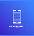 phone protect logo vector image vector image