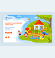 Playground children website with text sample